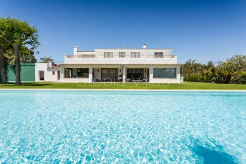 Villa Chantal view from its beautiful pool, Sitges, Barcelona