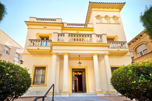Beautiful Villa Victoria Barcelona in a sunny day in Barcelona
